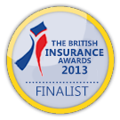 Finalist at the British Insurance Awards 2013