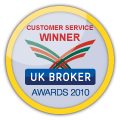 Customer Service Winner - UK Broker Awards 2010