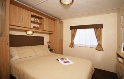 The main bedroom in the Delta Denbigh Deluxe