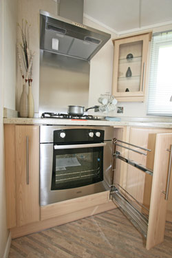 The kitchen in the Miramar