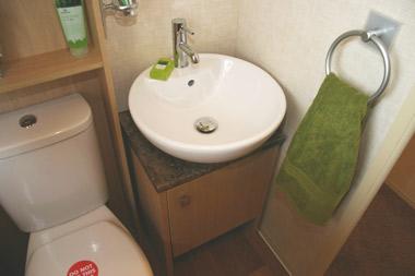 The Chamonix's bathroom