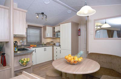 Kitchen and Dining Area in the Willerby Leven