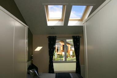 Willerby Ridgewood skylights in master bedroom