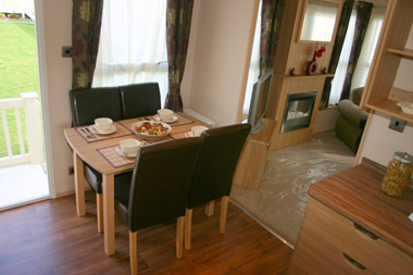 Carnaby Rosedale Static Caravan Dining Room
