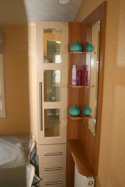 Willerby Aspen Scenic wardrobe and shelves in 2nd and 3rd bedrooms