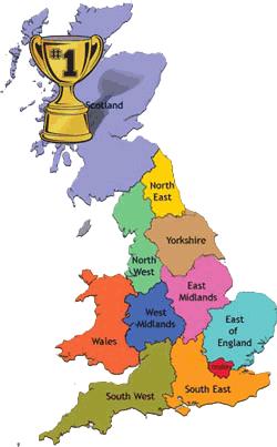 scotland winner map