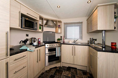 Delta Glade Static Caravan Kitchen