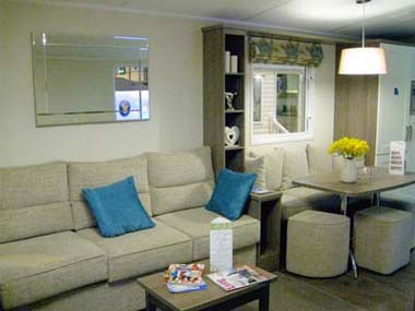 2013 Willerby Cameo lounge and dining area