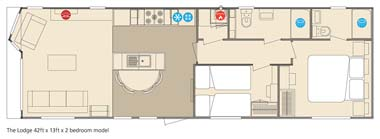 ABI The Lodge 2-bed floorplan
