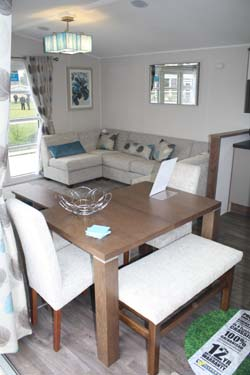 Lounge inside the Willerby 2014 3-bed Skyline holiday home