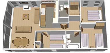 2014 Pathfinder Tuscany holiday lodge floorplan