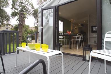 Hay Safari Tent exterior deck to interior