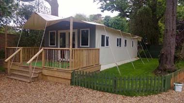 Hay Safari Tent exterior