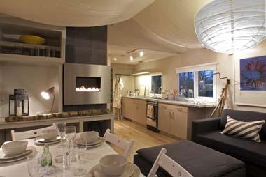 Hay Safari Tent interior dining kitchen