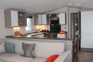 2014 Swift Moselle holiday lodge kitchen