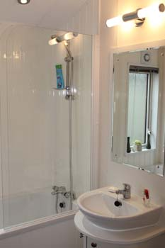 Willerby Clearwater holiday lodge - There is a shower at the end of the bath plus a shower screen