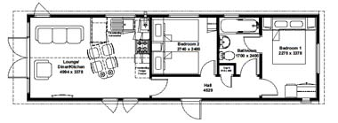 Tingdene Beachcomber lodge - Floor Plan