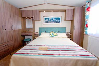 Victory Vermont static caravan Master bedroom