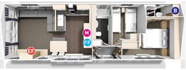 Willerby Linear - Floor Plan (2 bed)