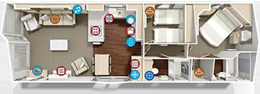 Willerby Vogue - Floor Plan (2 bed)