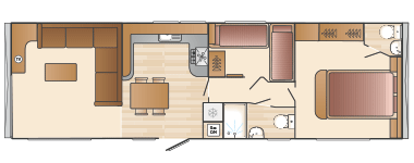 Swift Alsace 2 bed floorplan