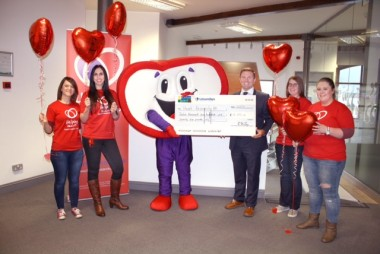 Heart research cheque pres