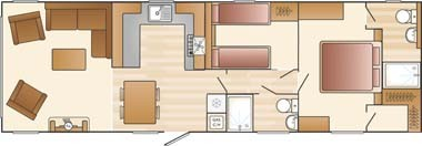 2016 Champagne Lodge 41 x 13 - 2Bed