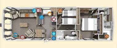 Willerby BK Sheraton Floor plan