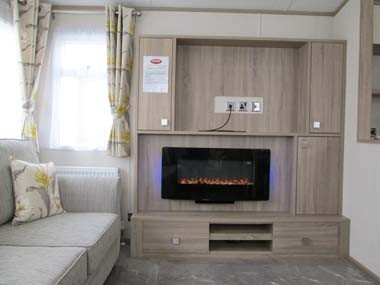 Carnaby Oakdale Lounge TV and Fireplace