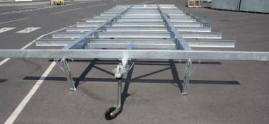 Static caravan chassis
