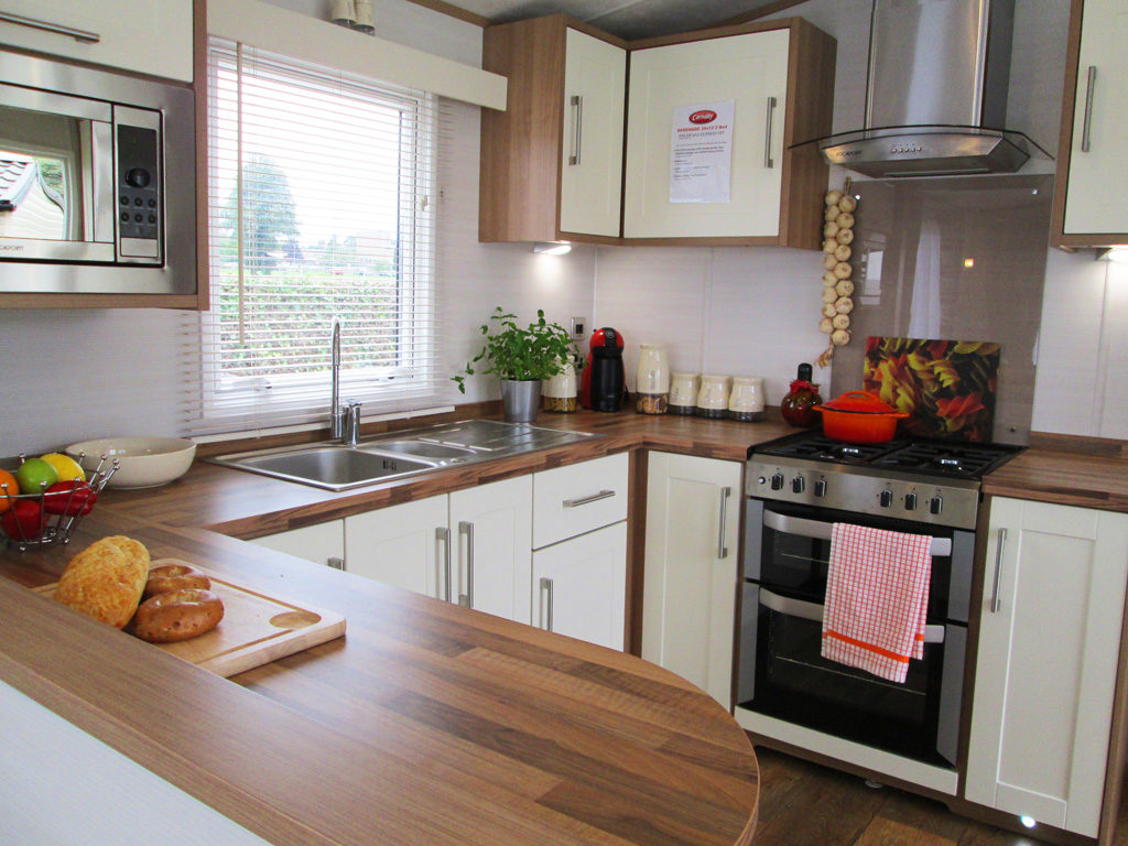 Kitchen Side View : Carnaby serenade static caravan review leisuredays news