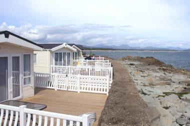 Caravan park with sea view