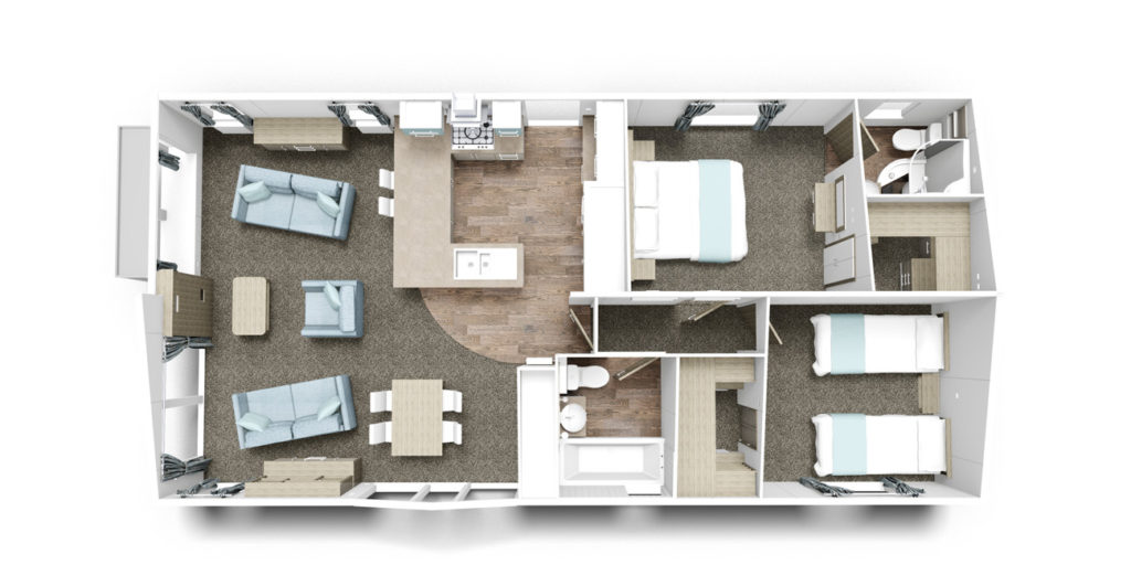 Willerby Rutherford 2 bed floorplan