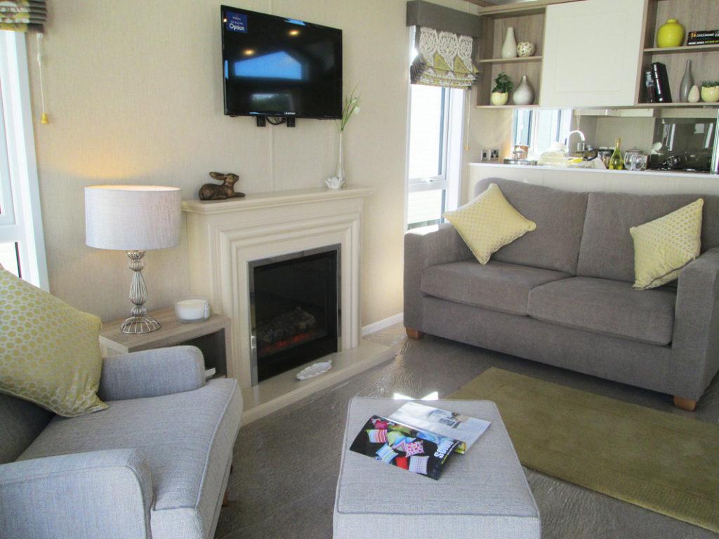 Pemberton Serena Lounge Fireplace