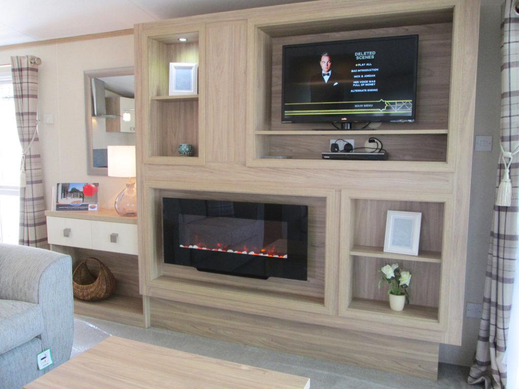 Regal Harlington TV and Fireplace