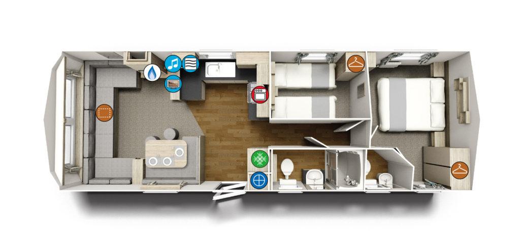 Willerby Lymington Floor Plan