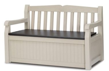 Space saving storage bench