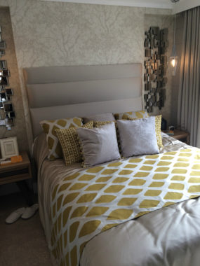 Greys and patterns_static caravan bedroom design