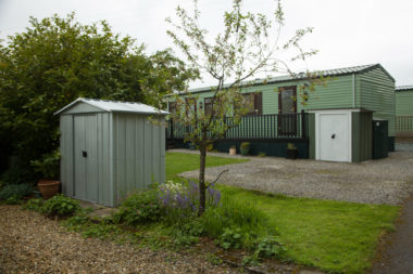 Static caravan outdoor storage